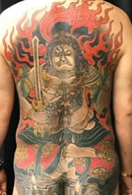 6张传统风格的大年夜满背纹身图片观赏