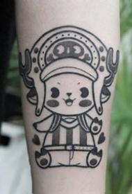 心爱纹身--一组手臂和腿部的黑色小心爱纹身图案