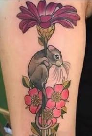 老鼠纹身图--一组十二生肖的老鼠纹身图案欣赏