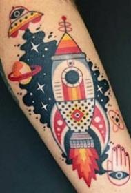 彩色适合手臂和腿部的创意纹身图案作品欣赏