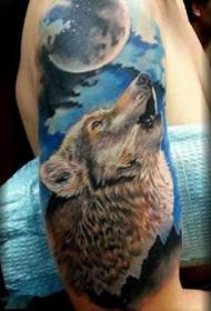 狼纹身--一组9张关于狼的纹身图案作品欣赏