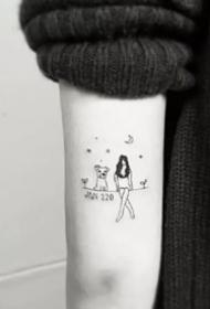 超现实简约小清新黑图纹身图片作品