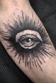 一组个性暗黑点刺纹身图案作品欣赏