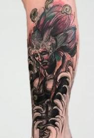 一组合适手臂和腿部的创意黑色纹身图案