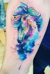 水彩动物纹身--一组颜色比较鲜艳的水彩动物纹身图案欣赏
