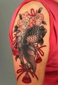 红色调的一组传统日式风格纹身图案作品欣赏