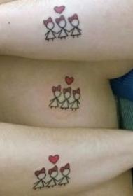 适合闺蜜和姐妹的小清新女生纹身图案