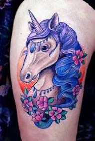 一组彩色的newschool炫彩 纹身图案欣赏