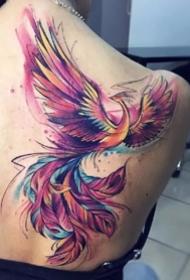 鳳凰刺青圖--很漂亮的一組鳳凰紋身圖案
