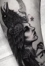 一组不错的暗黑系列纹身图案作品欣赏