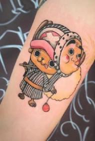 乔巴纹身图案--一组动漫海贼王里的乔巴纹身作品欣赏