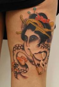 日式传统风格的一组小纹身图案作品