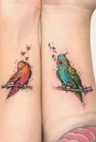 恋人纹身--唯美的一组小清爽情侣成对纹身图案