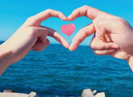 可爱浪漫的情侣手指拍照图集