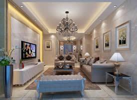 高贵欧式客厅装修效果图