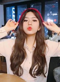 甜系韓國少女蜜茶色波浪卷