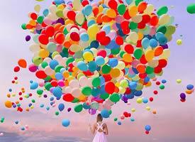 浪漫的五彩气球图片