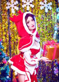 cosplay-王者荣耀貂蝉圣诞恋歌图片