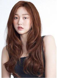 女生韩式长发发色及发型图片