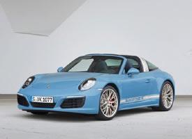 复古感设计蓝色保时捷911图片