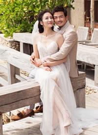 杨烁浪漫婚纱照图片欣赏