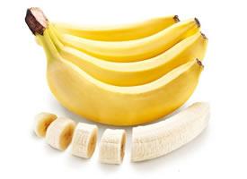 营养健康的香蕉和香蕉果肉图片