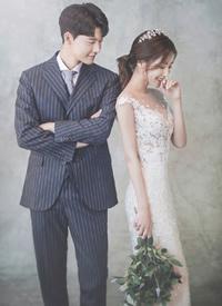 紧致浪漫有点小羞涩的婚纱拍摄图