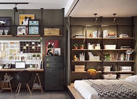 充满青春感的舒适单身Mini公寓装修效果图