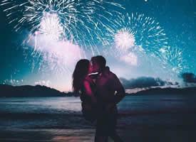 夜色高清浪漫情侶壁紙大全