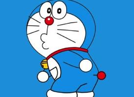 藍色背景的可愛哆啦a夢表情包圖片