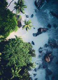 航拍海邊風景也是別有一番韻味