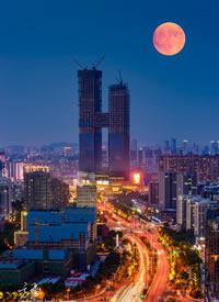 中秋圆圆的月亮摄影图片欣赏