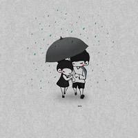 浓情蜜意相濡以沫的小情侣卡通头像