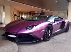 一套电镀紫兰博基尼Aventador图片