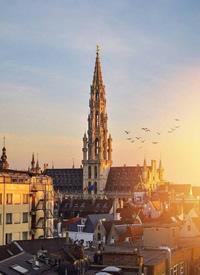 布鲁塞尔的黄昏风景拍摄图欣赏