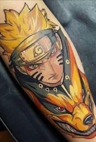 海贼王火影忍者等日本二次元动漫鸣人卡卡西路飞等角色纹身图案