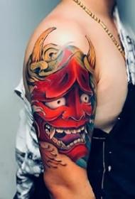 不错的日式传统般若纹身作品图片8张