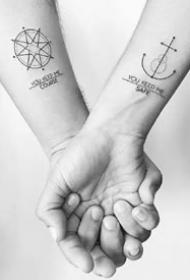 一组不错的合适情侣的繁复纹身图案作品