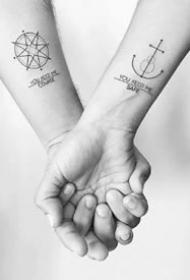 26款合适情侣纹身的漂亮纹身图案作品