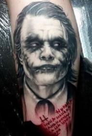 写实小丑--写实的一组欧美小丑纹身图案作品