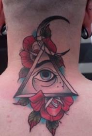 9张关于上帝之眼的一组纹身作品图案