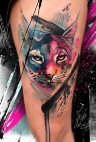 饱和色彩的一组重彩纹身图案作品欣赏