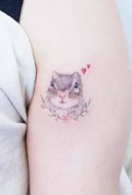 9张相当可爱的一组小清新动物纹身图片