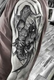 Inez Janiak伊內兹 贾尼亚克的素描纹身图案作品