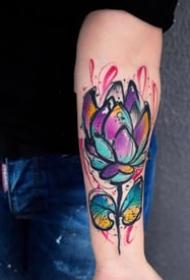 21张优秀的重彩色水彩纹身作品图案欣赏