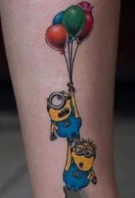 萌版小黄人卡通的纹身图案作品9张