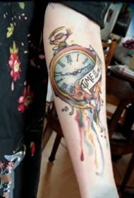 變形鐘表紋身:9張創意變形了的鐘表紋身圖案