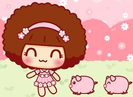摩丝摩丝和粉粉小猪高清壁纸欣赏