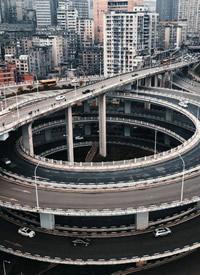 重庆就像3D一样的城市风景航拍图