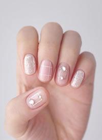 超美的粉色系少女風秋季美甲